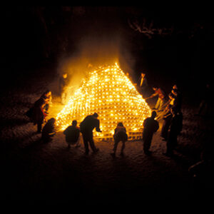 Berry Matthews fire sculpture